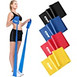 Resistance Band | 1.2 Metre or 2 Metre | Four Resistance Levels | Free Workout Guide | Exercise Band Ideal for Physiotherapy,