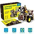 keyestudio Smart Robot Car Kit Upgrade Smart Little Turtle Robot V2.0 with Board, Line Tracking Module, Ultrasonic Sensor, Mo