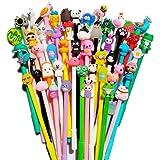 24 pack Blue Erasable Pens Kawaii Cute Cartoon Gel Ink Pens Assorted Style Writing Pens for Birthday Present School Prize Stu