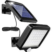 センサーライト 屋外ソーラーライト ,MPJ 56 LED超高輝度ソーラーライトモーションディテクター(5Mケーブル)付…