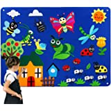 Kids Flannel Felt-Board Stories Sets for Toddlers Preschool, with Animals Caterpillar Figures- Felt Toy Gifts for Children, L