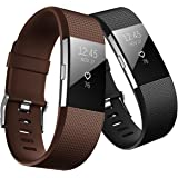 Fitbit Charge 2 Band, Hanlesi TPU Soft Silicone Adjustable Replacement Sport Strap Long Band for Fitbit Charge 2 Smartwatch H