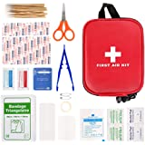 100 Pcs First Aid Kits, Mini First Aid Kits, Compact Emergency Survival Kit, Includes Scissor, Tweezer, Bandage, Adhesive Tap