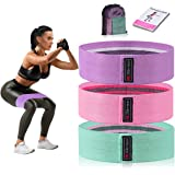 Strength Booty Fabric Bands, Xcellent Global 3 Pcs Non-Slip Fabric Resistance Bands for Butt, Leg & Arm, Circle Workout Hip B