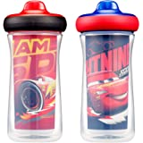 Disney/Pixar Cars Insulated Hard Spout Sippy Cups 9 Oz, 2pk | Scan with Free Share the Smiles App for Cute Animation | Share