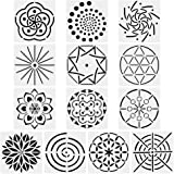 URlighting Mandala Dotting Stencils Template (13 Pack) - Reusable Different Patterns Mandala Dot Painting Template Set for St