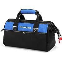 WORKPRO ツールバッグ 工具差し入れ 道具袋 工具バッグ 大口収納 600Dオックスフォード ワイドオープン 幅3…