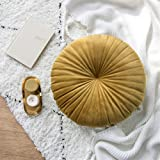 """Icegrey Nordic Round Chair Cushion Throw Pillow for Couch Sofa Bed Pillow Yellow Diameters 15.7"""""""