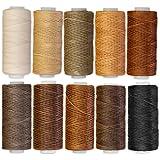 クラフトライフ ワックスコード 蝋引き糸 ロウ引き糸 10色セット 直径1mm 長さ50m