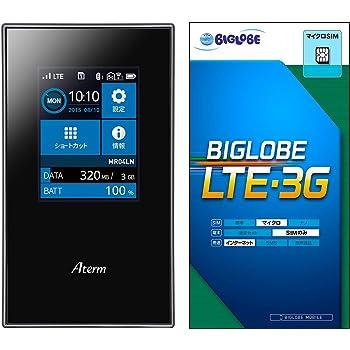 【Amazon.co.jp限定】NEC Aterm MR04LN LTE対応 モバイルルーター 【ビッグローブ SIM 付】 D2_MR04