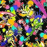 入園入学にキャラクター子供柄キルティング生地 スプラトゥーン(Splatoon) 黒/50cm単位