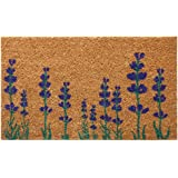 "Rubber-Cal ""Purple English Lavender"" Flower Doormat, 18 x 30"""