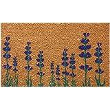 "Rubber-Cal ""Purple English Lavender"" Flower Doormat, 18 x 30"""