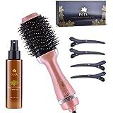 ISHA Hot Air Brush with Magnetic Deluxe Gift Set Box, One Step AU Plug Styler Hair Dryer & Volumizer Hair Dryer Brush One Han