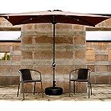 ガーデンパラソル屋外の長方形の半分、折り畳み式のパティオガーデンパラソル250× 130 cm庭/バルコニー/キャノピーテント用クランク付きサンシェード傘