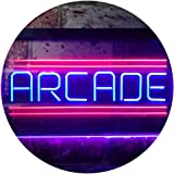 Arcade Game Zone Room Dual Color LED Neon Sign Red & Blue 300 x 210mm st6s32-i3368-rb