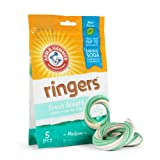 Arm & Hammer Ringers Dental Treats for Dogs | Dental Chews Fight Bad Breath, Plaque & Tartar without Brushing | Mint Flavor,