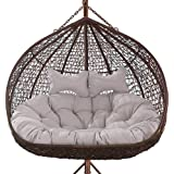 Double Swing Chair Cushion,Removable Washable Hanging Egg Hammock Chair Pads,Thick Nest Hanging Chair Back Cushions,110X150cm