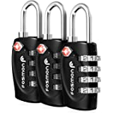 TSA Approved Luggage Locks, Fosmon 4 Digit Combination Padlock Codes Alloy Body for Travel Bag, Suit Case, Lockers, Gym, Bike