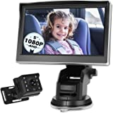 Antook 5'' 1080P Baby Car Mirror Camera, Infant Rear View Facing Safety Camera and Monitor, Back Seat Baby Car Camera with In