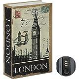 Jssmst Diversion Book Safe with Combination Lock, Secrect Hidden Safe Lock Box Large 2018, London, SMBS008L