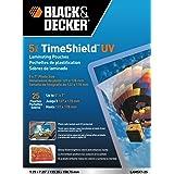 Black + Decker TimeShield UV Thermal Laminating Pouches, 5 x 7 Photo, 5 mil - 25 Pack (LAM5X7-25)