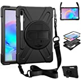 ZenRich Galaxy Tab S6 Case 2019, Galaxy Tab S6 10.5 Case with Pencil Holder, Stand, Hand Strap, Shoulder Belt, Shockproof Cas