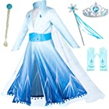 Princess Snow Queen Act 2 Costumes with Wig,Crown,Mace,Gloves Accessories 3T-10