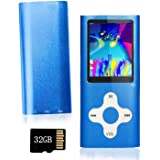 Ploveyy MP3 Player MP4 Player Including a 32GB Micro SD Card,extensible 64 GB,Mini USB Port 1.8 LCD, with Photo Viewer, E-Boo