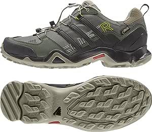 アディダス (adidas) 海外限定モデル 防水トレッキングシューズ 24.5cm TERREX SWIFT R スウィフト R GTX ゴアテックス B22818 ブラック/ベノムグリーン 国内正規品