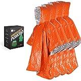 Bearhard Emergency Blanket Poncho |3 Pcak Ultralight Waterproof Thermal Survival Space Blanket Ponchos with Hood for Camping