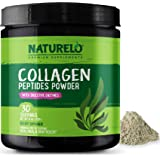 NATURELO Collagen Peptides Powder - Best Supplement for Skin, Hair & Joint Health - Organic Spirulina - 14 Amino Acids - Gras