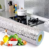 Kitchen Backsplash Wallpaper Stickers, Kitchen Stickers Self Adhesive Kitchen Aluminum Foil Stickers Oil Proof Waterproof Kit