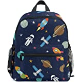 School Bag Retro Cartoon Monster Trucks Pattern Preschool Backpack