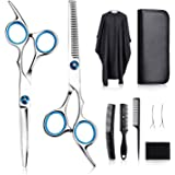 Tomight Hair Scissors Set, Professional Hair Cutting Scissors Kit, 6.7 Inch Hairdressing Scissors with 3 Combs, Haircut Cloak