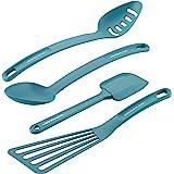 Rachael Ray Cucina Nylon Nonstick Tools Set, 4-Piece, Agave Blue - 47564