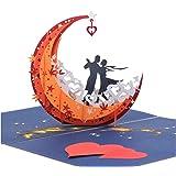 3d Pop Up AnniversaryカードバレンタインのI Love You Romanceカード結婚記念招待カード
