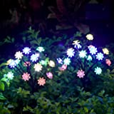 TONULAX Solar Garden Lights - Newest Solar Powered Landscape Tree Lights with Larger Solar Capacity,Solar Decorative Lights O
