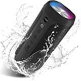 EDUPLINK Wireless Bluetooth Speaker 24W Bluetooth Portable Home Party Speaker with Pulsating Lights IPX7 Water Proof Portable