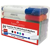 Faber-Castell Connector Whiteboard Markers 24 Pieces, Assorted, (67-552924)