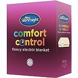 Silentnight Comfort Control Electric Blanket, Fleece - Single