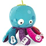 B. toys – Octopus Plush Toy – B. softies – Musical Stuffed Animal – Soft Baby Plush with 8 Instruments - Sensory Toys for Bab