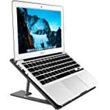 Aluminum Laptop Stand Adjustable, Compatible with Apple Mac MacBook Notebook, Ventilated Portable Ergonomic Desktop Holder Ri