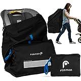 Fosmon Infant Car Seat Travel Bag for Airplane, Nylon Backpack Style Padded Adjustable Shoulder Strap, Drawstring Airline Gat