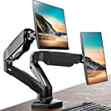 FITUEYES Dual Monitor Stand Gas Spring Riser Desk Mount Swivel Tilt and Adjustable fit 13-27 inch Screen   VESA 75x75-100x100