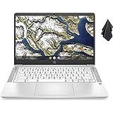 2021 Newest HP Chromebook 14-inch HD Laptop, Intel Celeron N4000 up to 2.6 GHz, 4 GB DDR4 SDRAM, 32 GB eMMC Storage, Backlit