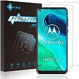 【2枚セット】Moto G8 ガラスフィルム Aerku 旭硝子素材採用Moto G8 フィルム 強化ガラス液晶保護フィルム 9H硬度 防爆裂 気泡防止 ラウンドエッジ加工 Moto G8 対応 クリア
