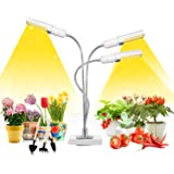 LED Grow Light for Indoor Plants, Mrhua 68W 156 LEDs Tri Head Auto On/Off Plant Light Sunlike Full Spectrum Grow Lamp with 3/