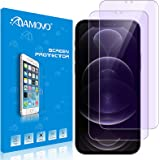 AMOVO Compatible with iPhone 12 Pro/iPhone 12 Screen Protector [Tempered Glass] Anti-Blue Light [Eye Protection] Ultra Clarit
