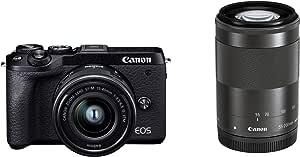 Canon ミラーレスカメラ EOS M6 Mark II (ブラック)・ダブルズームキット